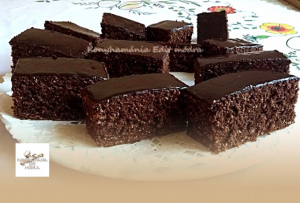 Bögrés, kakaós-kókuszos kevert süti