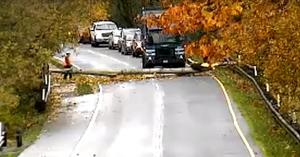 Leállt a forgalom, a szemétszállító lett az autósok megmentője – VIDEÓ