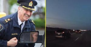 Ilyen a karma: elkezdett büntetőfékezni, kiderült, hogy egy civil rendőrautó jön mögötte – VIDEÓ
