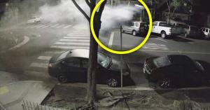 Nem vette észre a körforgalmat a részeg BMW-s, ötméter magasra ugratott és mindent letarolt! – VIDEÓ