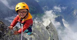 Háromévesen a háromezres hegy csúcsán