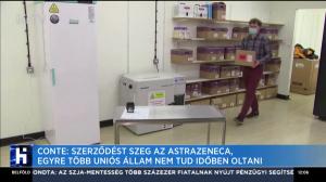 Conte: Szerződést szeg az AstraZeneca, egyre több uniós állam nem tud időben oltani