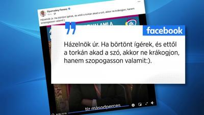 Szopogatást ajánlott Gyurcsány Kövér Lászlónak