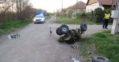 Súlyosan megsérült az ittasan quadozó jászteleki sofőr