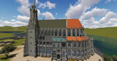 Sümegi Gyula elkészítette 3D-ben a székesfehérvári királyi bazilika látványtervét