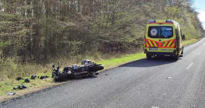 Súlyos motorbaleset történt – szarvas futott a motornak Pornóapátinál