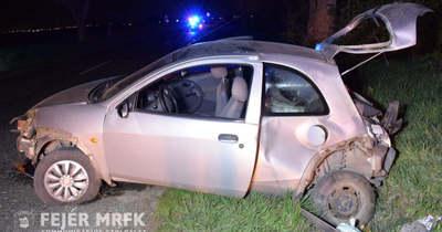 Árokba csapódott egy autó Polgárdinál