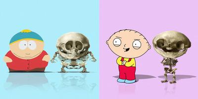 Így néznének ki a népszerű mesehősök csontvázai - Galéria