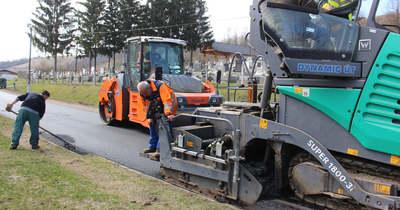 Öt Heves megyei útszakasz felújítása kezdődött el márciusban