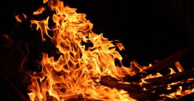 Nagy területen égett a nádas Szolnoknál