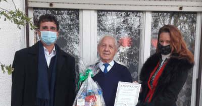 A 90 éves Molnár Józsefet köszöntötték Pacsán