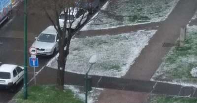 Borsó méretű jég esett Dunaújvárosban