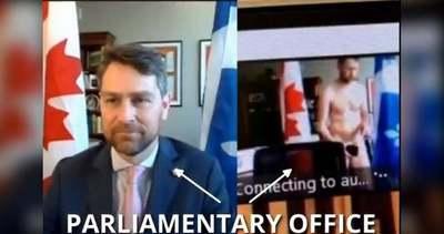 Egy liberális képviselő anyaszült meztelenül jelentkezett be a parlamenti ülésre