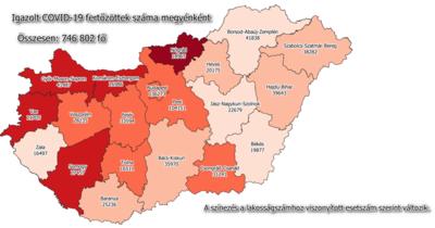 85 új fertőzöttet regisztráltak Nógrád megyében