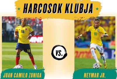 Néhány centin múlt, hogy Neymar nem került tolószékbe