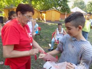 Ötven gyermek táborozott együtt a Tisza-tónál