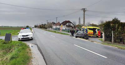 Két autó ütközött Táplánszentkeresztnél