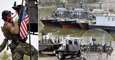 Felfegyverzett hajók lepik el a Duna fővárosi szakaszát – Fotók!
