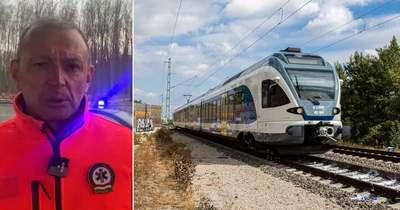 Hatalmas baleset Újfehértónál, kisiklott a vonat, amikor traktorral ütközött