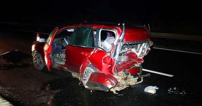BMW csapódott egy másik autóba az M5-ösön