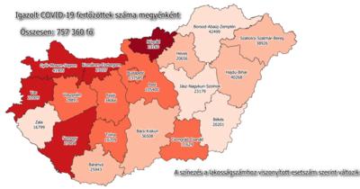 Emelkedett, de még mindig 100 alatt van az új fertőzöttek száma Komárom-Esztergomban