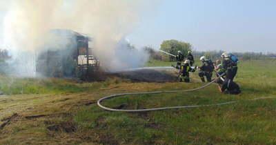 Vasúti balesetet szimuláltak Jászkiséren