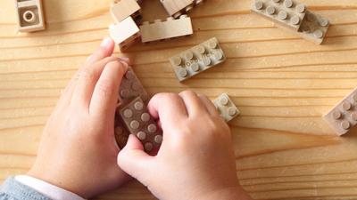 Fenntartható, fakockákból építhető játék Japánból