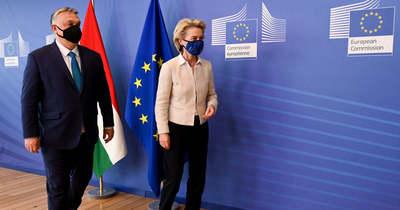 Ursula von der Leyen Brüsszelben fogadta Orbán Viktort + videó