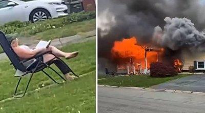Vérfagyasztó videó: felgyújtotta a házát, majd kényelmesen leült, hogy végignézze – az sem zavarta, hogy valaki bennég
