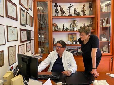 Karikó Katalinnal találkozott Merkely Béla a Semmelweis Egyetemen