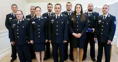 Példás elhivatottságukért tüntették ki a Pannonhalmi Rendőrség tagjait – fotók