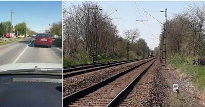 Tűzoltók, mentők a Kótaji úti vasúti átjárónál