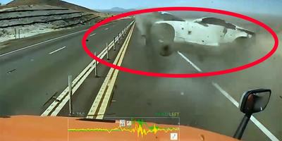 Csak be akart sorolni a kamionos, olyan borzalmas balesetet látott, amit sose felejt el - videó