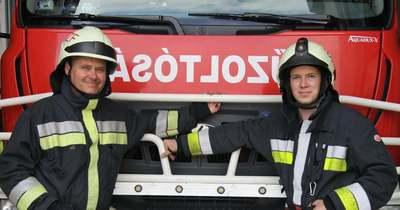 Fia hivatását választotta, tűzoltó lett a fehérvári édesapa