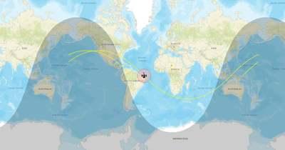 Követőoldalakon lehet élőben figyelni a zuhanó kínai rakéta helyzetét