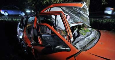 Fának rohant egy autó Kiskunhalas közelében