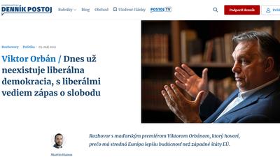Riadót fújtak az Orbán-interjú miatt a szlovák liberálisok