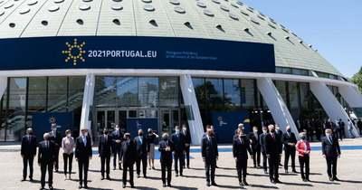 Fényképes összeállítás a portói EU-csúcsról