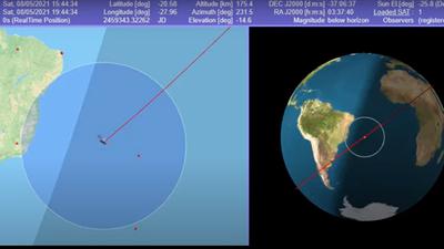 Itt nézheti, hol repül épp a kínai rakéta! (videó)
