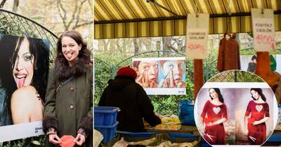 Festményekbe másolja bele magát a magyar színésznő