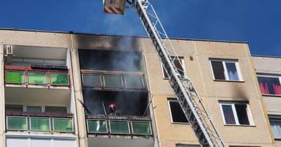 Egy társasházi lakás égett Nyíregyházán (fotók) – Frissítve!