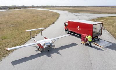 Drón repül a postával egy brit szigetcsoportra