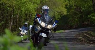 Motoros rendőrök razziáznak a balatoni hegyi utakon