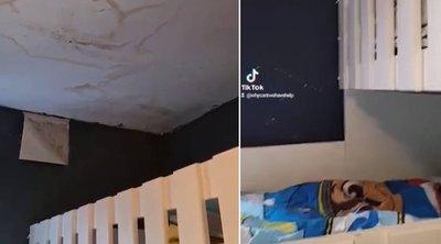 Penészes horrorlakásban él 10 gyermekével az egyedülálló anya – videó