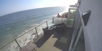 Leszakadt az erkély a bulizó fiatalok alatt: több métert zuhantak - Videó