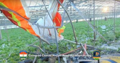 Lezuhant egy motoros Sárkányrepülő Forráskúton hétfőn – Videó