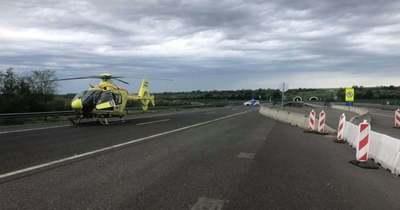 Teljes útlezárás az M6-oson: többen megsérültek a balesetben