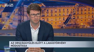 Böröcz László: Az Országgyűlés előtt a lakástörvény módosítása