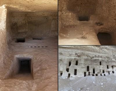 Egyiptomban folyosókkal összekötött sziklasírokat tártak fel egy hegyoldalban