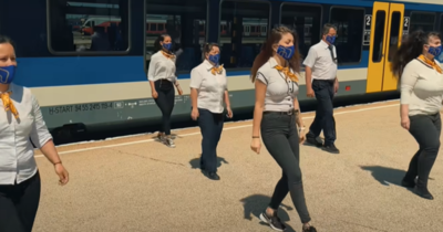 A MÁV munkatársai is csatlakoztak a táncos kihíváshoz